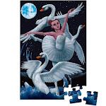 Floor Puzzles for Kids - 48-Piece Giant Floor Puzzle, Ballerina Ballet Swan Dancer Jumbo Jigsaw Puzzles for Toddlers Preschool, Toy Puzzles for Kids