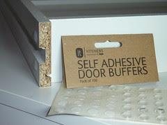 Self-adhesive door buffers