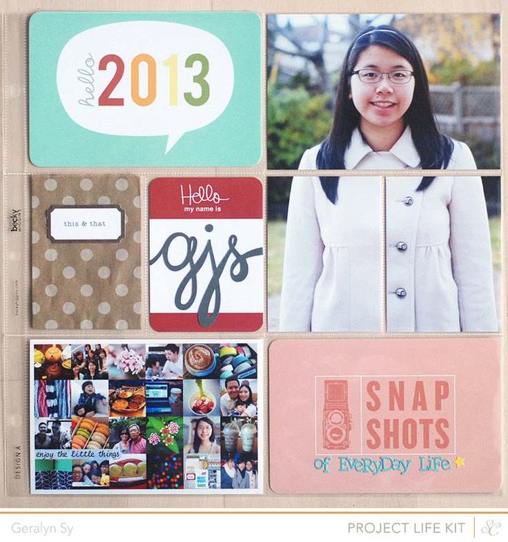 Project Life 2013 Title - @Abbey Adique-Alarcon Phillips Mounier Calico January Kit
