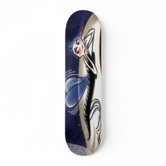 Vintage Madam Malaria Mosquito Skateboard skateboard