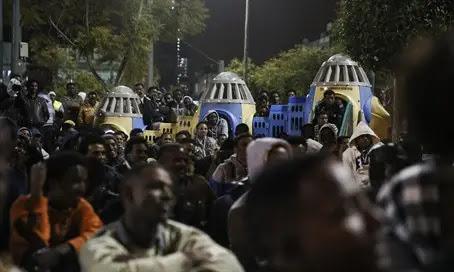 Illegal African immigrants in Tel Aviv