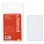 Universal Clear Laminating Pouches, 5 mil, 2-1/8 inch x 3-3/8, Business Card Style, 25-Pack,