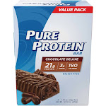 Pure Protein Protein Bar, Chocolate Deluxe, Value Pack - 6 pack, 1.76 oz bars