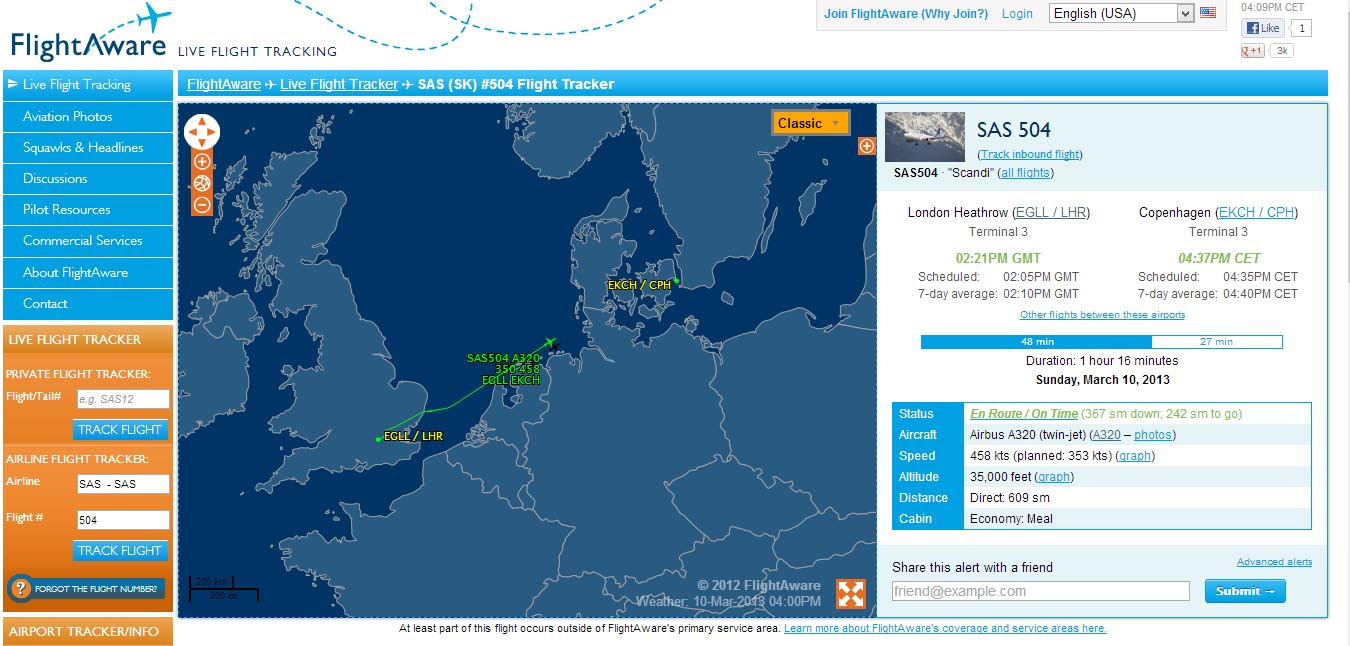 Tracking e codici di tutti i voli disponibili online, durata volo, partenze con Flightware