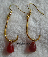Golden Fishing Hook Earrings