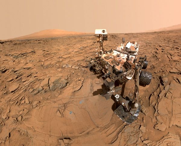 A self-portrait of NASA's Curiosity Mars rover, taken with a camera on her robotic arm on May 11, 2016.