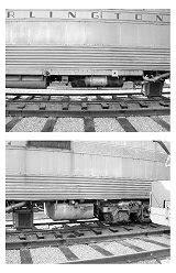Burlington Route Silver Charger Zephyr Diesel Locomotive