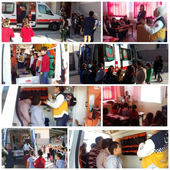 öğrencilerimiz 112 Acil Servis Ambulans Eğitimi Aldı Eğitim