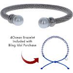 Ocean Bling Ladies Classic Bracelet - Twisted Cable Band with Pearls