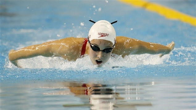 La nageuse canadienne Emily Overholt.