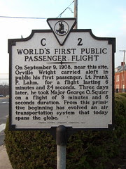 World's First Public Passenger Flight (Marker ...