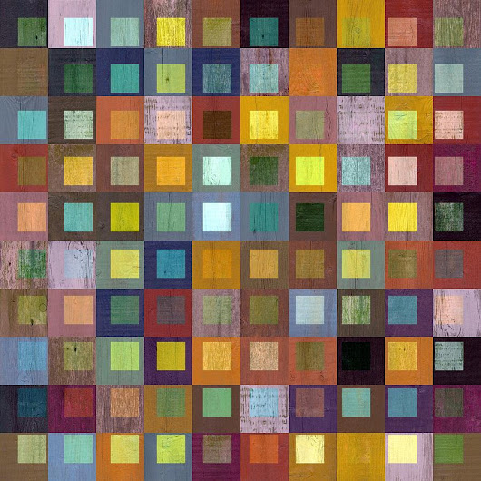 Squares In Squares One by Michelle Calkins