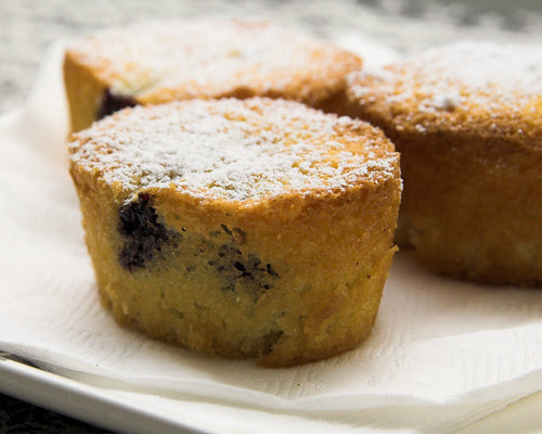 Berry & coconut friands