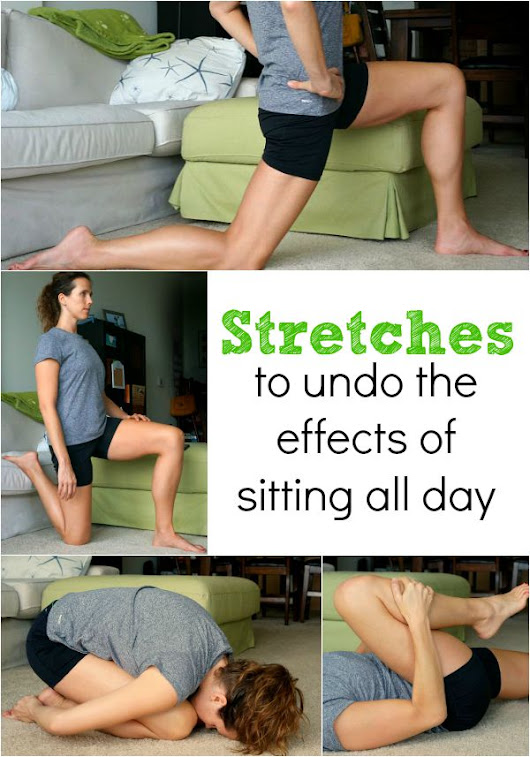 Lose lower belly fat appearance by stretching!