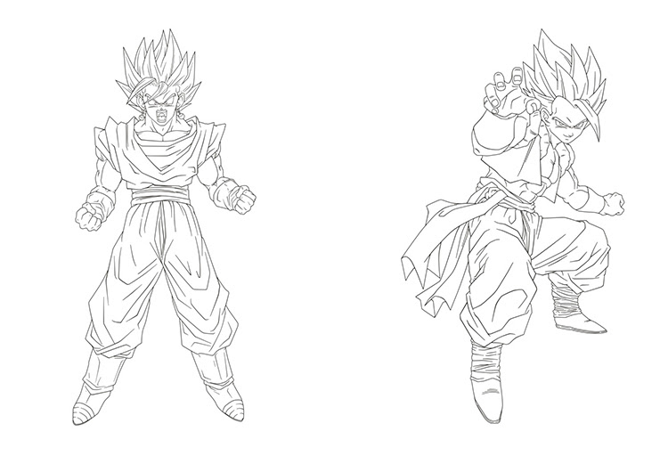 goku ultra jiren dragon ball instinct drawing frieza toy android sketch dessin final coloriage child istinto commemorative edition figures action