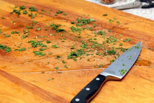 Prepared cutting board