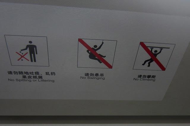 No Swinging, No Climbing