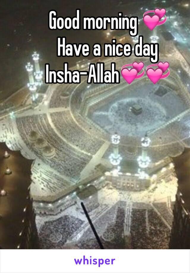 Good Morning Have A Nice Day Insha Allah