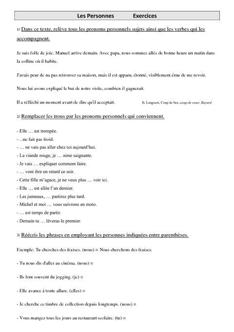 Zaimki osobowe - ćwiczenie 1 - Francuski przy kawie