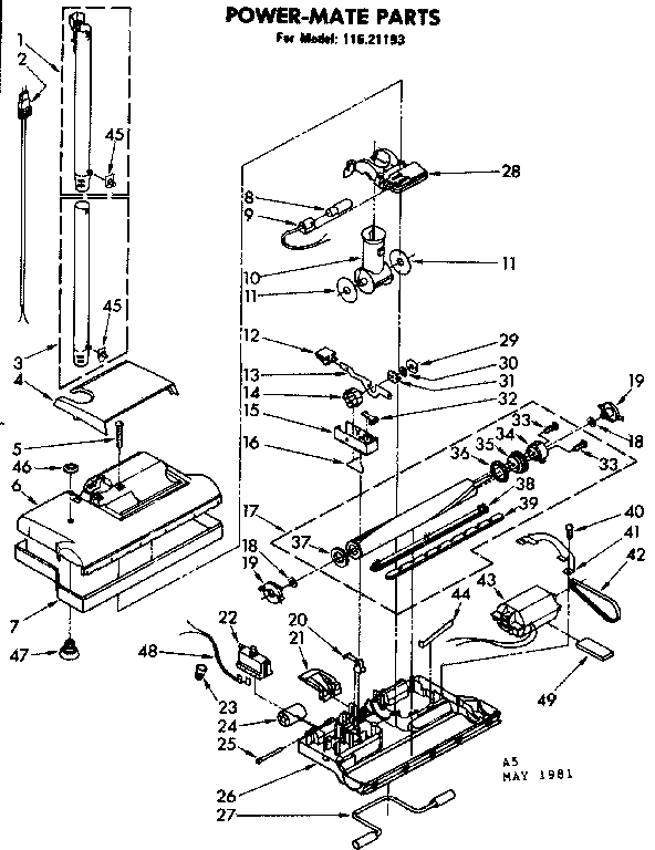 35 Kenmore Vacuum Parts Diagram