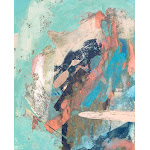 Cotton Candy: a colorful abstract mixed media piece in pastel green, pink, blue, and white Pillow Sham by Alyssa Hamilton Art - KING SET OF 2