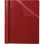 Oxford Premium - Report file - Letter - for 100 sheets - red with clear front cover (pack of 25)