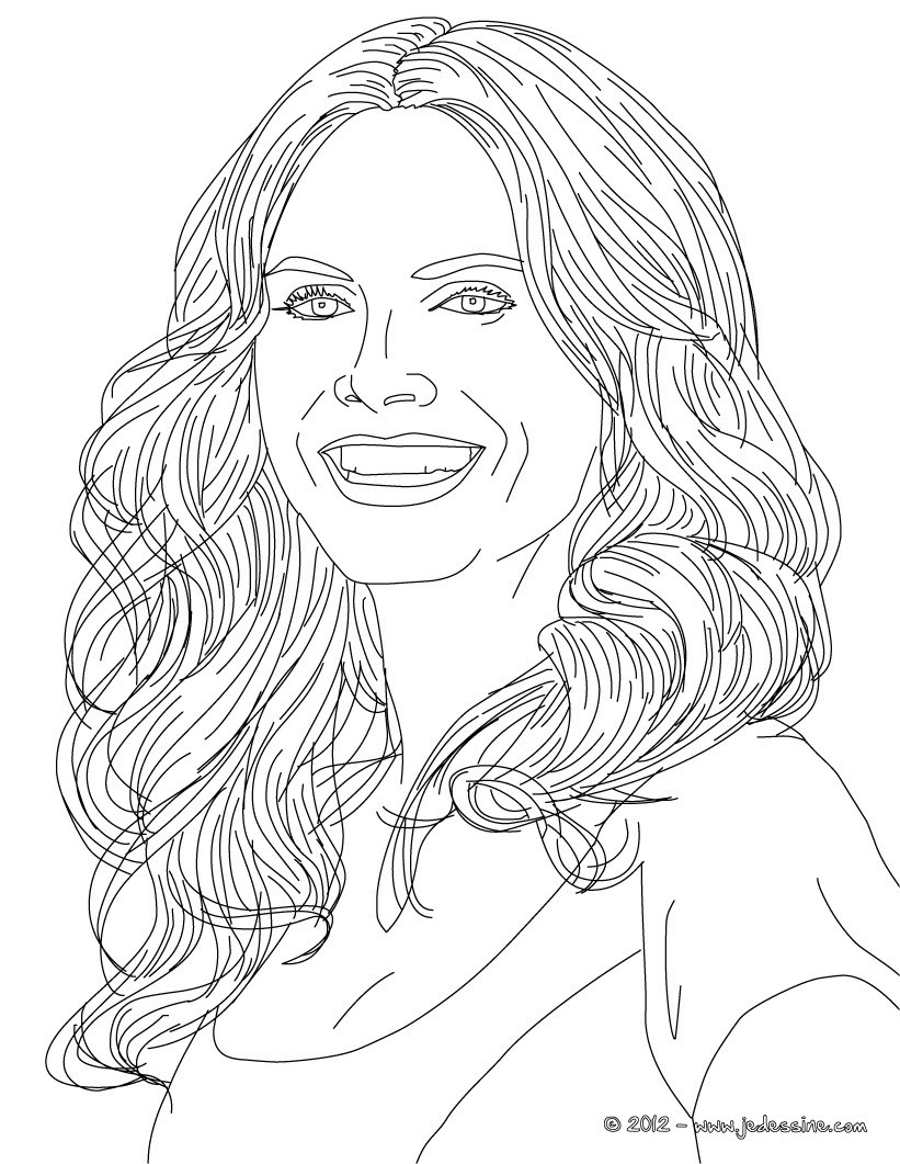 Coloriages coloriage du top model allemand heidi klum fr hellokids