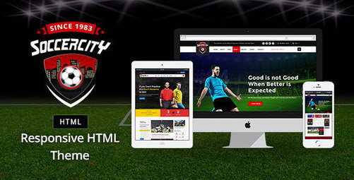 Soccer Sports | Soccer News and Sports News HTML Template | Premium WordPress Website Blogging Themes