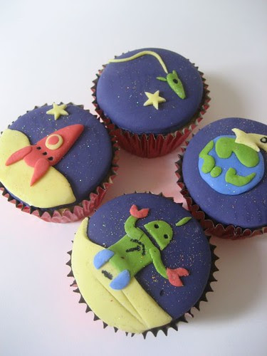 Space cupcakes!