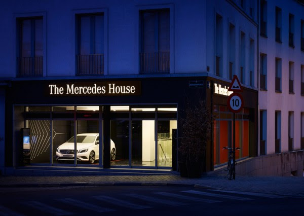 In Brussels, A Mercedes-Benz-Themed Restaurant ...