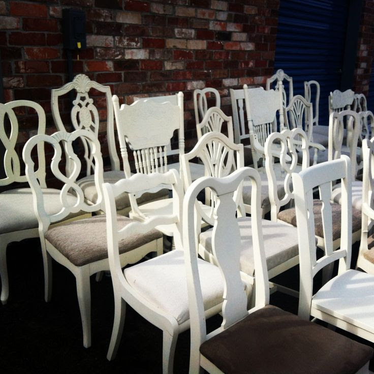 white chair rental vintage Denver, Colorado. #chairs