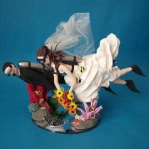 scuba diving wedding cake topper   Wedding   Pinterest