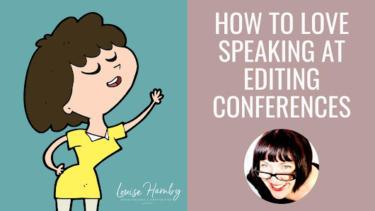 Speaking at editing conferences: How to do it and love it