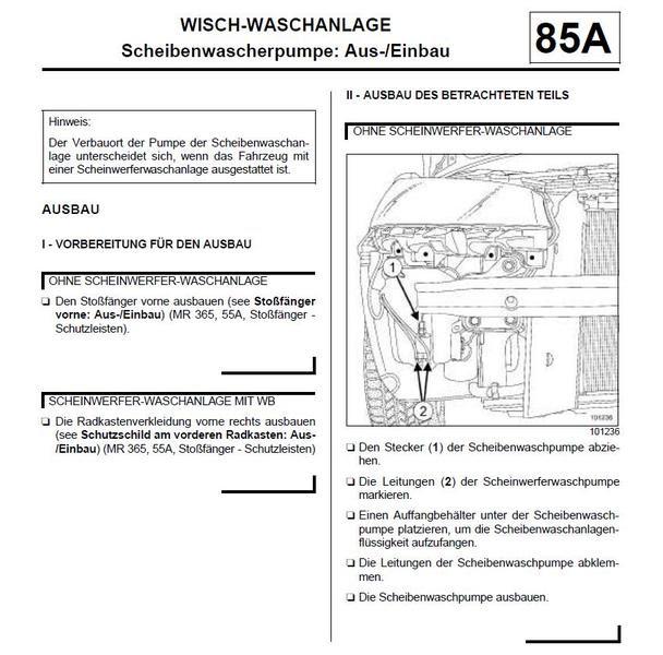 Stromlaufplan Renault Scenic 2