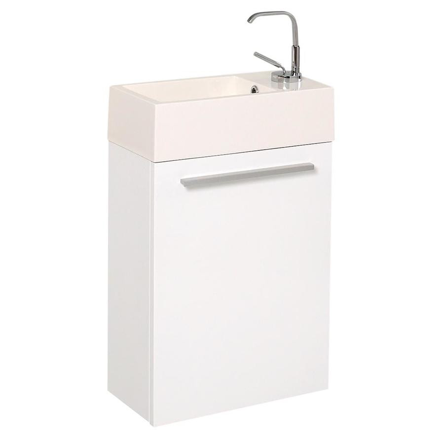 Fresca Pulito 16 In White Single Sink Bathroom Vanity With White Acrylic Top In The Bathroom Vanities With Tops Department At Lowes Com