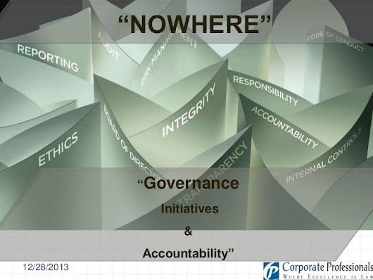 Corporate Governance - Initiatives and Accountability