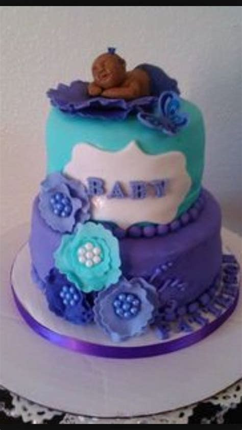 Purple turquoise ( teal ) Baby shower   Baby shower   Baby