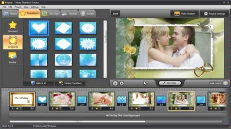 How to Make a Professional Wedding Slideshow   YouTube