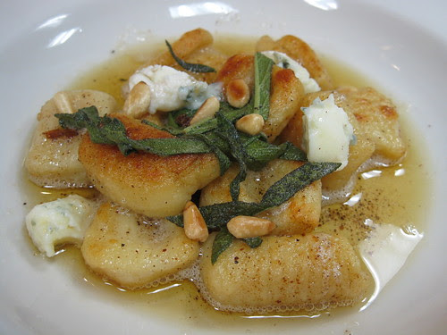 Gnocchi in Brown Butter Sage Sauce with Gorgonzola and pine nuts
