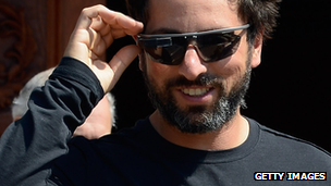 Sergey Brin wearing Project Glass