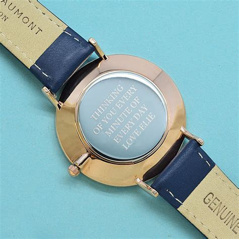 Vintage Personalized Leather Watch   My Wedding