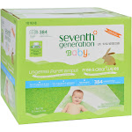 Seventh Generation Baby Wipes - Free and Clear - Multipack - 64 Wipes