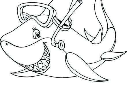 baby shark coloring pages at getcolorings  free