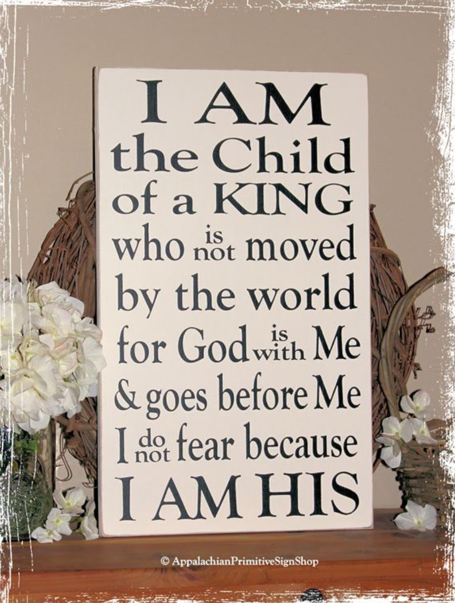 I am the Child of King I am His Large WOOD SIGN- Family ...