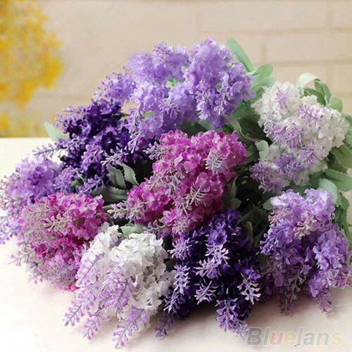 10 Heads Charismatic Artificial Lavender Silk Flower Bouquet Party Wedding Decor  eBay
