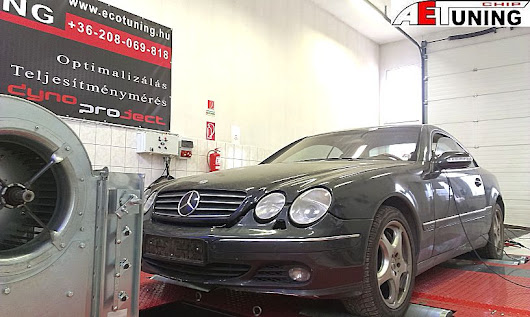 Mercedes CL600 Bi-Turbo Chiptuning - Bestia a fékpadon