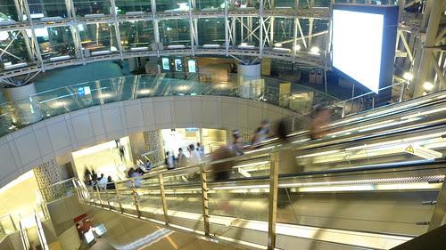 Escalators to Roppongi Hills