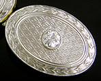 Elegant diamond and platinum cufflinks. (J9014)