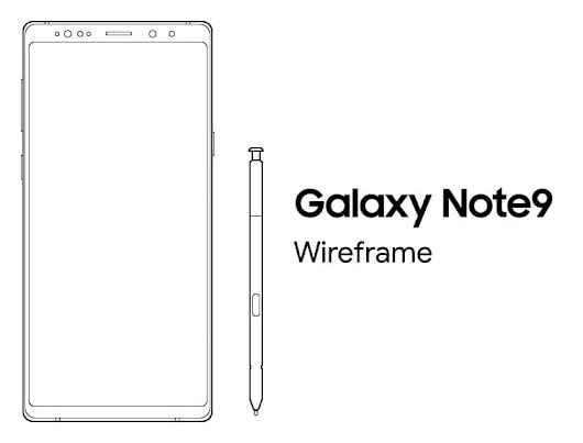 Free Samsung Galaxy Note 9 Sketch Wireframe - TitanUI