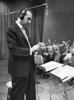 Percy Faith conducting his orchestra